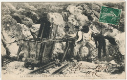 La Ferriere Aux Etangs Mines Denain Anzin   La Perforatrice En Marche Wagon Edit Roussel Argentan - Mines