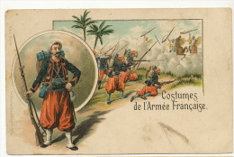 Costumes De L' Armée Française Zouaves Dessinée  Litho CKZ  Edit Seughol Magdelin - Regimenten