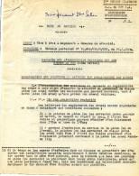Militaria VP - Note De Service - Tirs à Obus - Explosif - Mesures Sécurité - Origine 33° RA POITIERS 1959 - Cachet Armée - Documents