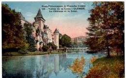 CLERON  Le Chateau Et La Loue  Belle Carte Colorisée En Très Bon état - Sin Clasificación