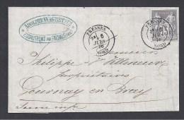 NORD - Cachet De FRESNES Sur Lettre Avec 15 C Type Sage - Marcophilie (Lettres)