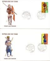 TCHAD. N°271-2 De 1972 Sur Enveloppe 1er Jour (FDC). Costumes Guerriers. - Costumes