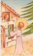 IMAGE PIEUSE ENFANT Illustrateur SS  : Souvenir MENARD François Cours Fénélon BEZIERS St François D'Assise - Andachtsbilder