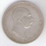 AUSTRIA 5 KORONA 1908 AG SILVER - Autriche