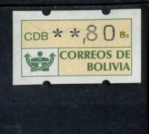 BOLIVIE POSTFRIS MINT NEVER HINGED POSTFRISCH EINWANDFREI AUTOMATEN MARKEN MICHEL 1 - Bolivie