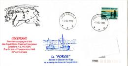 Arctique. Polaire. Pli  Du 01/06/1988 C. à D. Ilullisat, Groenland : 40ème Ann. De La Première Campagne D´été Des EPF - Greenland
