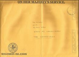 Solomon Islands 2012 Honiara Unfranked Official Postage Paid Cover - Solomoneilanden (1978-...)