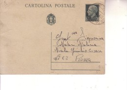 Cartolina Postale Cent 15 Regno -- Posta Militare Nr 3-- 22 5 1942 ( Libia ) - Correo Militar (PM)