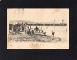 45998   Francia,    Trouville,  La  Plage,  VG  1907 - Trouville