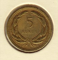 @Y@  Turkije   5  Kurus  1950    (item 2708) - Turkije