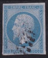 RARE N°  14 Ae  Sig. BRUN (Bleu/lilas)- Voir Verso - - 1853-1860 Napoléon III