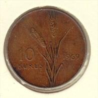 @Y@    Turkije   10  Kurus  1969      (2700) - Turquie
