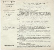 Automobile/Préfecture De Police/Piéces à Fournir/ Mise En Service D'une Voiture Automobile/1922  AC62 - Voitures