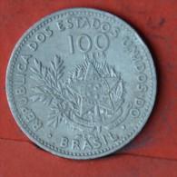 BRAZIL  100  REIS  1901   KM# 503  -    (Nº05597) - Brésil