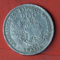 BRAZIL  200  REIS  1901   KM# 504  -    (Nº05598) - Brésil