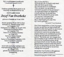 DP: Priester - Jozef Van Overbeke - Hansbeke - Eeklo - Zaffelare - Petegem Deinze -Horebeke-Lokeren-Mendonk-Lotenhulle - Vieux Papiers