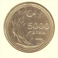 @Y@  Turkije   5000 Lira 1992    (item 2693) - Turquie