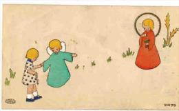 IMAGE PIEUSE ENFANT Illustrateur Signé   : Souvenir GAUFFRE Marie Françoise BEZIERS Cours Fénélon AYRIVIE - Andachtsbilder
