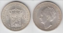 QUALITY **** PAYS-BAS - NETHERLANDS - 1 GULDEN 1940 WILHELMINA I - ARGENT - SILVER **** EN ACHAT IMMEDIAT !!! - [ 3] 1815-… : Kingdom Of The Netherlands
