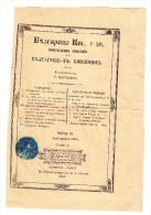 Bulgarisch Geschriebener Dokument Gedruckt In Istambul (mit Stempel) - Turkey