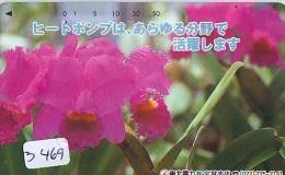 Télécarte Japon * FLEUR * ORCHID (3469)  Orchidée Orquídea Orquidée Orchid * Flower Phonecard JAPAN * - Bloemen