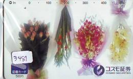 Télécarte Japon * FLEUR * ORCHID (3481)  Orchidée Orquídea Orquidée Orchid * Flower Phonecard JAPAN * TULIPS - Blumen