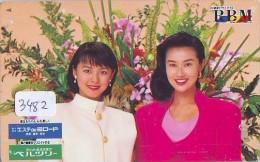 Télécarte Japon * FLEUR * ORCHID (3482)  Orchidée Orquídea Orquidée Orchid * Flower Phonecard JAPAN * - Blumen