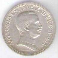 ITALIA 2 LIRE 1916 AG SILVER VITTORIO EMANUELE III - 1861-1946 : Regno