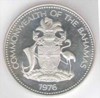 BAHAMAS 5 DOLLARS 1976 AG SILVER - Bahamas