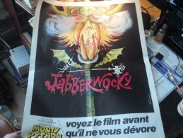 Affiche De Cinéma JABBERWOCKY, Un Film De Terry Gilliam Réalisateur De Monty Python Dessin De Ferraci. - Posters