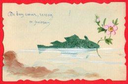 [DC6227] PESCE GALANTE - Old Postcard - Pesci E Crostacei