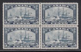 Canada MNH Scott #204 5c ´Royal William´ Yacht Block Of Four - Neufs