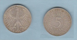 ALLEMAGNE  //  5 MARK 1973 J    //   ETAT SUP - [ 7] 1949-… : FRG - Fed. Rep. Germany