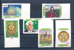 TURKMENISTAN * SERIE 6v 1992 * COUNTRY PORTRAIT * IMPERFORATED * MNH - Turkmenistan
