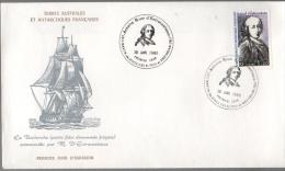 FDC  T.A A.F. D´Entrecasteaux 1980 - FDC