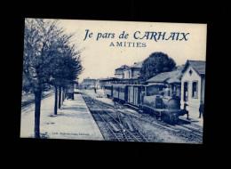 29 - CARHAIX - Un Bonjour De - Gare - Train - Carhaix-Plouguer