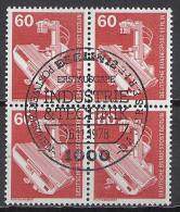 Deutschland Berlin 1978 Michel Nr 582 O, Industrie + Technik Viererblock ESST Ersttag Sonderstempel Röntgengerät Yv 539 - Gebraucht