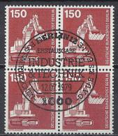 Deutschland Berlin 1978 Michel Nr. 584 O, Industrie Und Technik, Viererblock, ESST Ersttag Sonderstempel, Löffelbagger - Gebraucht
