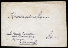 A2604) DR Lettland Brief Mit EF Mi.524 Vom 16.04.1942 (?) - Besetzungen 1938-45