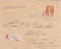 NEDERLAND - 1923 - ENVELOPPE RECOMMANDEE De ROTTERDAM Pour GLAUCHAU - Lettres & Documents