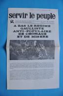 EVENEMENTS DE MAI 1968 / SERVIR LE PEUPLE N° SPECIAL DU 13 MAI 1968 - JEUNESSES COMMUNISTES - Historische Dokumente