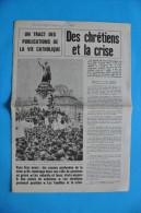 EVENEMENTS DE MAI 1968 / TRACT DES PUBLICATIONS DE LA VIE CATHOLIQUE TROUVE LE 4 JUIN 1968 - Historische Dokumente