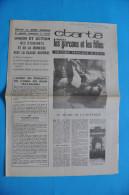 EVENEMENTS DE MAI 1968 / TRACT DE L' UNION DES ETUDIANTS ET DE LA JEUNESSE AVEC LA CLASSE OUVRIERE LE 25 JUIN 1968 - Documents Historiques