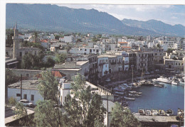 Aerial View, Harbor And Town, KYRENIA, Cyprus, 50-70's - Cyprus