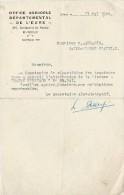 Tracteurs/Agriculture/Courrier D'attribution/Obtention Tracteur/Office Agricole Départemental De L'Eure/1949   AC69 - Tracteurs