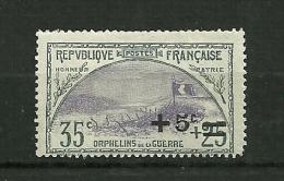 FRANCE  1922    N° 166    Au Profit Des Orphelins De La Guerre (timbre De 1917 Surchargé)    Neuf Avectrace De Charnière - Neufs