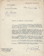 Tracteurs/Agriculture/Réponse Ministre De L'Agriculture à Demande D'intervention/PFIMLIN/1948   AC70 - Tractors