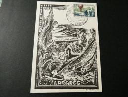 JOURNEE DU TIMBRE LANGRES 1955 - Journée Du Timbre