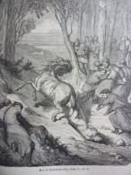 Mort De Brunehaut , 613 , Gravure De Perrichon Dessin De Don 1880 - Documenti Storici
