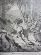 Mort De Brunehaut , 613 , Gravure De Perrichon Dessin De Don 1880 - Documents Historiques